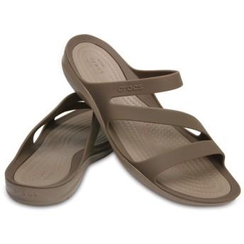 【クロックス公式】 スウィフトウォーター サンダル ウィメン Women's Swiftwater Sandal ウィメンズ、レディース、女性用 ブラウン/茶 21cm,22cm,23cm,24cm,25cm sandal サンダル