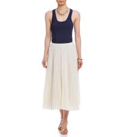 【75%OFF】CEDRIC CHARLIER カットオフヘム プリーツスカート オフホワイト 40