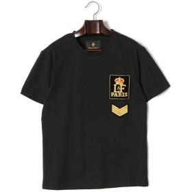 【71%OFF】ワッペン クルーネック 半袖Tシャツ ブラック m