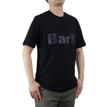 バーク Bark メンズ クルーネック 半袖 ロゴ Tシャツ 71B8715 261 BLACK ブラック