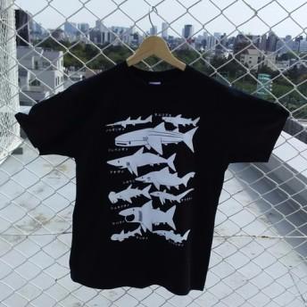 サメT ネイビー Mサイズ Tシャツ