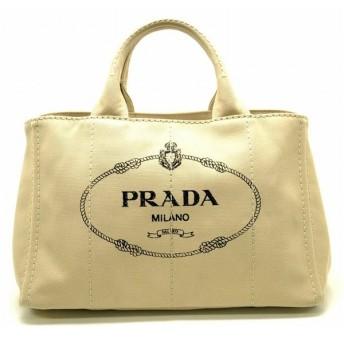 (バッグ)PRADA プラダ CANAPA カナパトート トートバッグ ハンドバッグ CORDA ベージュ 国内ブティック購入品 1BG642(u)