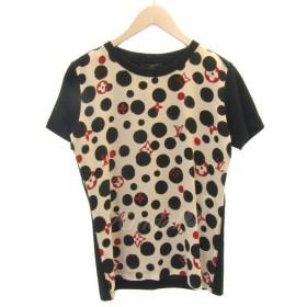 LOUIS VUITTON モノグラムデザインコットンTシャツ ブラック サイズ:XS (三宮店) 190504