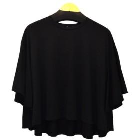 ENFOLD フレアスリーブT ブラック サイズ:38 (恵比寿店) 190622