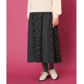 Couture Brooch / クチュールブローチ 【WEB限定プライス/手洗い可】レオパードドットプリント ロングスカート