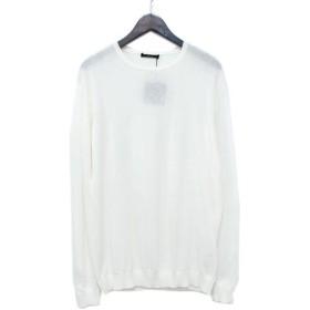 ROBERTO COLLINA クルーネック コットンニットセーター ホワイト サイズ:52 (アメリカ村店) 190603