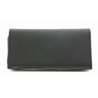 (バッグ)TUMI トゥミ ジップトラベルケース 旅行カバン トラベルケース クラッチ ナイロン レザー 黒 ブラック (k)