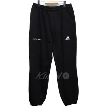 【10月14日値下】Gosha Rubchinskiy×adidas 18AW Sweat Pant ロゴ刺繍スウェットパンツ ブラック サイズ:J-