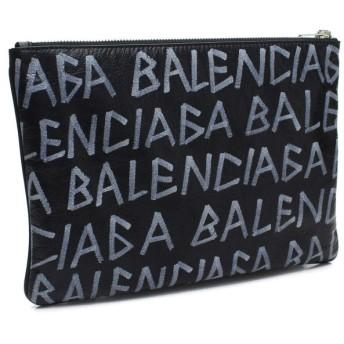 バレンシアガ BALENCIAGA グラフィティ キャリー クリップ M クラッチバッグ 535532 0EE12 1080 BLACK/MULTICOLOR ブラック マルチカラー