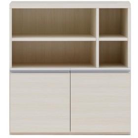 収納棚 オープン棚 + 戸棚 ホワイトウッド ECS-91H