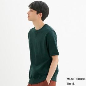 (GU)スウェットシャツ(半袖) DARK GREEN S