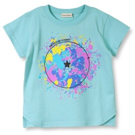 【50%OFF】 ブランシェス ペイントデザイン半袖Tシャツ(90~150cm) レディース ブルー 90cm 【branshes】 【セール開催中】