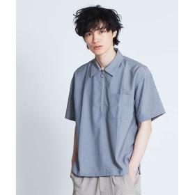 アバハウス TRストレッチハーフジップシャツ メンズ グレー 46 【ABAHOUSE】