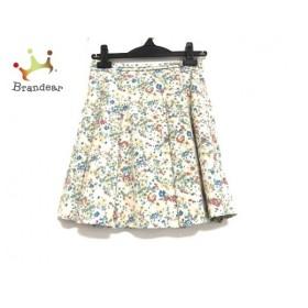 アニエスベー agnes b スカート サイズ36 S レディース 美品 アイボリー×マルチ 花柄   スペシャル特価 20191005