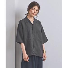 ユナイテッドアローズ <STYLE for LIVING> ビッグ オープンカラーシャツ レディース BLACK FREE 【UNITED ARROWS】