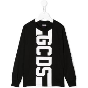 Gcds Kids ロゴ Tシャツ - ブラック