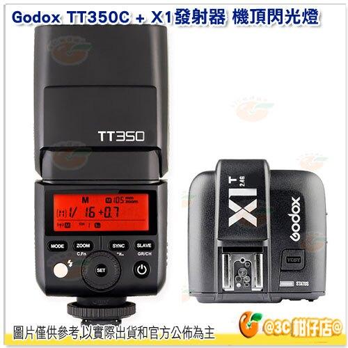神牛 Godox TT350C + X1T-C 發射器 機頂閃光燈 TT350 TTL 2.4G 開年公司貨 Canon X1T