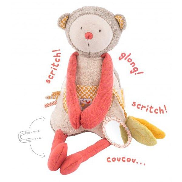 法國 Moulin Roty 感官學習布偶~小猴子