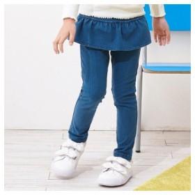 (F.O.Online Store/エフオーオンラインストア)ぺプラムデニムニット 7days Style パンツ 10分丈/レディース ブルー