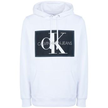《セール開催中》CALVIN KLEIN JEANS メンズ スウェットシャツ ホワイト M コットン 100% CHAMBRAY MONOGRAM HO