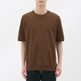(GU)スウェットシャツ(半袖) BROWN XS