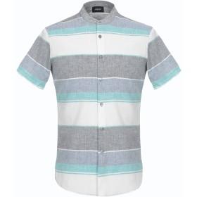 《期間限定 セール開催中》ARMANI JEANS メンズ シャツ ブルーグレー S コットン 70% / 麻 30%