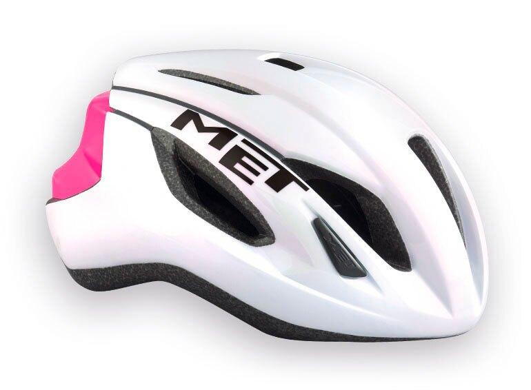 【7號公園自行車】MET STRALE進階級空氣力學帽(白粉)