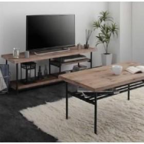 杉古材ヴィンテージデザインリビングシリーズ 2点セット(テレビボード+センターテーブル) (収納幅 120cm)(収納高さ 40cm)(収納奥行 40cm)