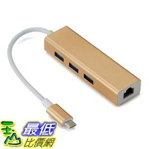 [7玉山最低比價網]  TYPE-C 轉 RJ45 USBC 3.0+1000MB網卡 介面HUB P51
