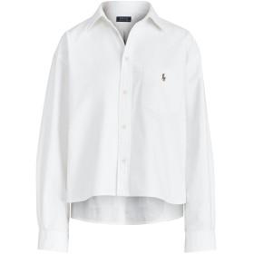 《期間限定セール開催中!》POLO RALPH LAUREN レディース シャツ ホワイト XXS コットン 100% BOY FIT GRAPHIC OXFORD SHIRT