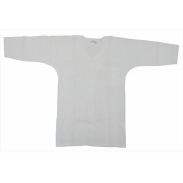 【お祭り用品・衣装】 鯉口シャツ 白 無地 S-3L B681