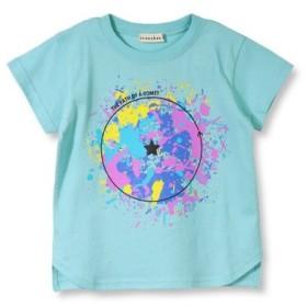 (branshes/ブランシェス)ペイントデザイン半袖Tシャツ(90-150cm)/レディース ブルー