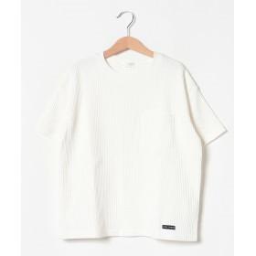 ビールーム ワッフルビックシルエットTシャツ レディース オフホワイト 100 【b-ROOM】