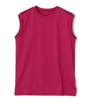 ESTNATION / コットンスムースノースリーブカットソー ピンク/38(エストネーション)◆レディース Tシャツ/カットソー