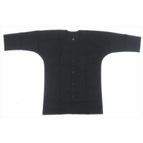 【お祭り用品・衣装】 鯉口シャツ 黒 無地 S-3L A1319