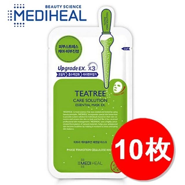 [Mediheal]メディヒール ティーツリーヒーリングソリューションエッセンシャル・マスク 10枚/敏感肌ケア/ニキビケア