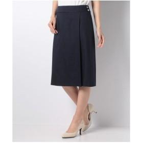 OLD ENGLAND 【セットアップ対応商品】リネンキャンバススカート(ネイビー)【返品不可商品】