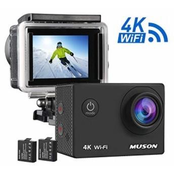 【4K高画質 WiFi搭載】MUSON(ムソン) ウェアラブルカメラ 1600万画素 SONYセンサー 30M防水 [メーカー1年保証] 170度広角レンズ 1050mAh