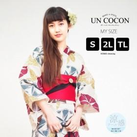 UN COCON 浴衣単品 紫陽花 レディース