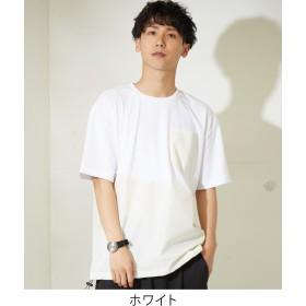 Tシャツ - improves Tシャツ メンズ レディース 裾ドローコード ナイロン 切替 ポケット クルーネック 半袖Tシャツ カットソー ホワイト ブラックベージュ 白 黒 きれいめ カジュアル ストリート 系 韓国 ファッション improves