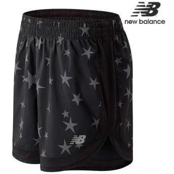 ニューバランス ウィメンズ Star プリント5インチショーツ(インナーなし) AWS9304Y レディース ランニングパンツ ハーフパンツ ジョギング マラソン 星柄