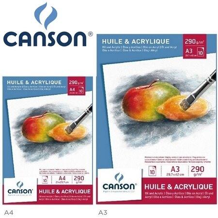 法國 CANSON  美術專用紙 200005786 油畫 壓克力 A3 白 畫紙 無酸 10張/本