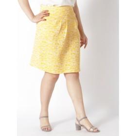 【大きいサイズレディース】【L-3L】タックスカート スカート 膝丈スカート