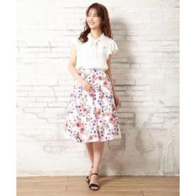 花柄ミディ/スカート