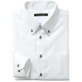 【メンズ】 形態安定デザインYシャツ(ベーシックシルエット) ■カラー:ホワイト・ドビー ■サイズ:39(裄丈78),39(裄丈80)