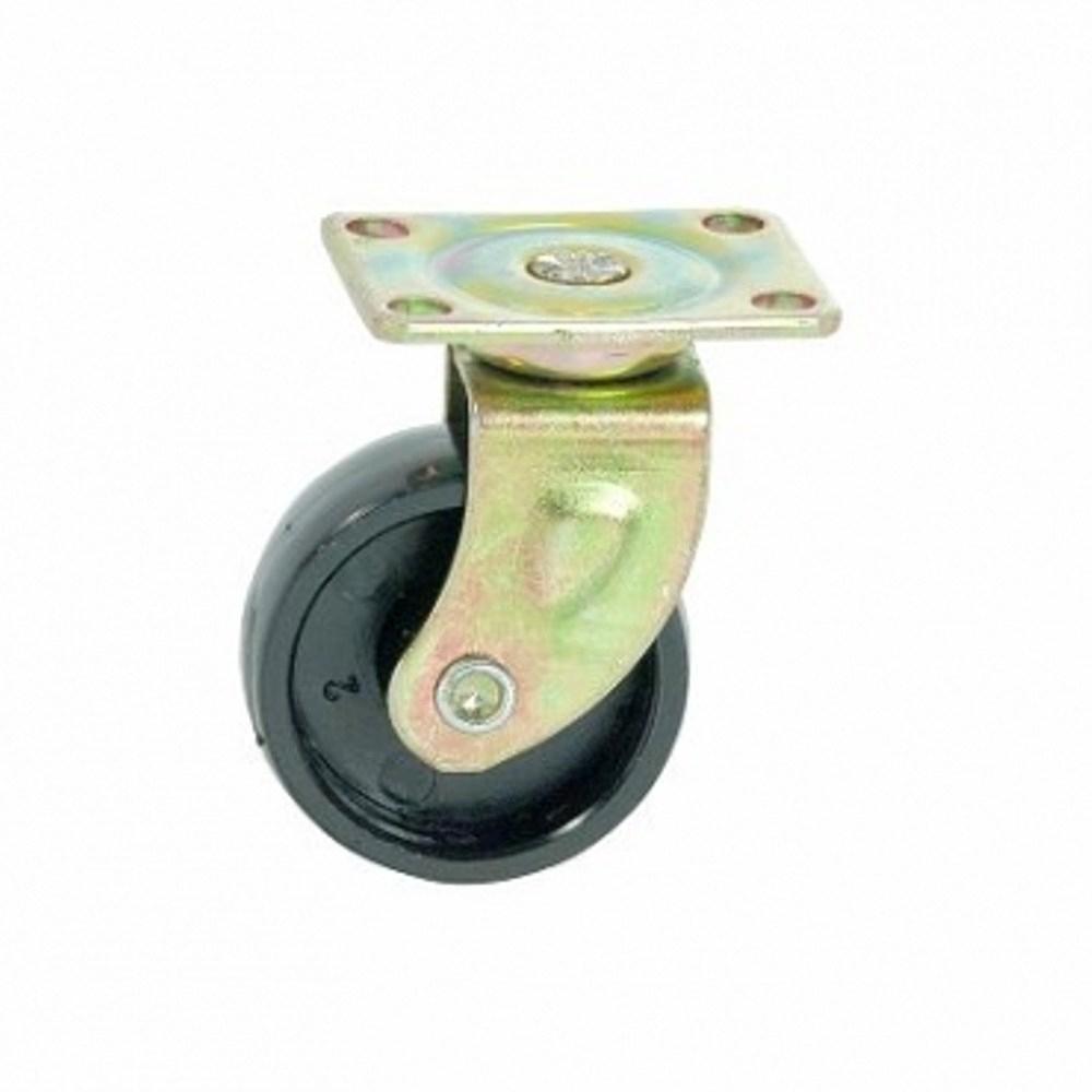 40MM 平板式塑膠傢俱腳輪 -黑色(1入)