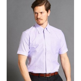 (MONSIEUR NICOLE/ムッシュニコル)ボタンダウン半袖ドレスシャツ/メンズ 88ラベンダー