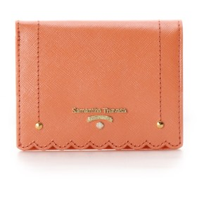 サマンサタバサプチチョイス スカラップシリーズ 折財布 オレンジ