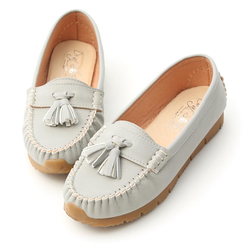 D+AF  浪漫秋氛 格紋毛呢芭蕾娃娃鞋  灰