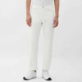 (GU)ストレッチカラースリムパンツ WHITE 34